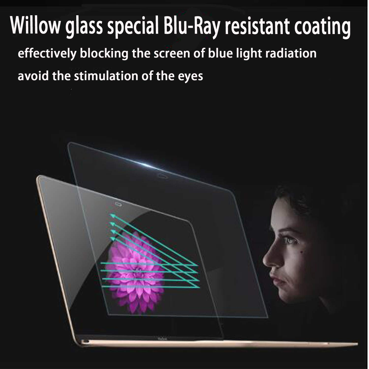 Glass Screen Protector for MacBook Pro 15 Inch Model A1707,9H Hardness with Ultra Thin 0.15mm Thickness by LILIONGTH (Image #5)