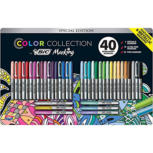 Price comparison product image BIC Color Collection Marking,  Assorted (40 ct.)