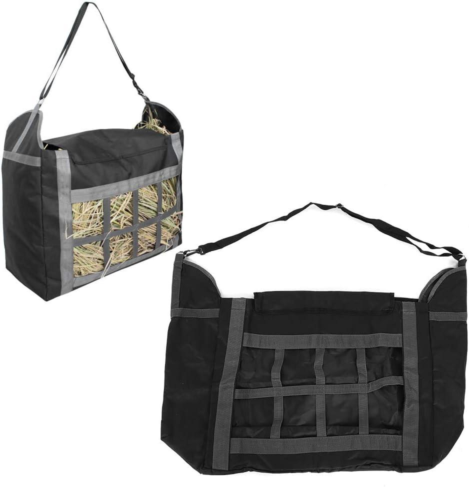 Bolsa de heno de alimentación Mediana, Bolsa de heno para Caballos de alimentación Lenta, Bolsa de heno con alimentador de pacas de Paja de Carga Superior, 600D Oxford para Caballos,Cabra,Alpacas co
