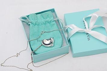 7eb375598 Tiffany & Co Elsa Peretti Full Heart Pendant Sterling Silver Necklace