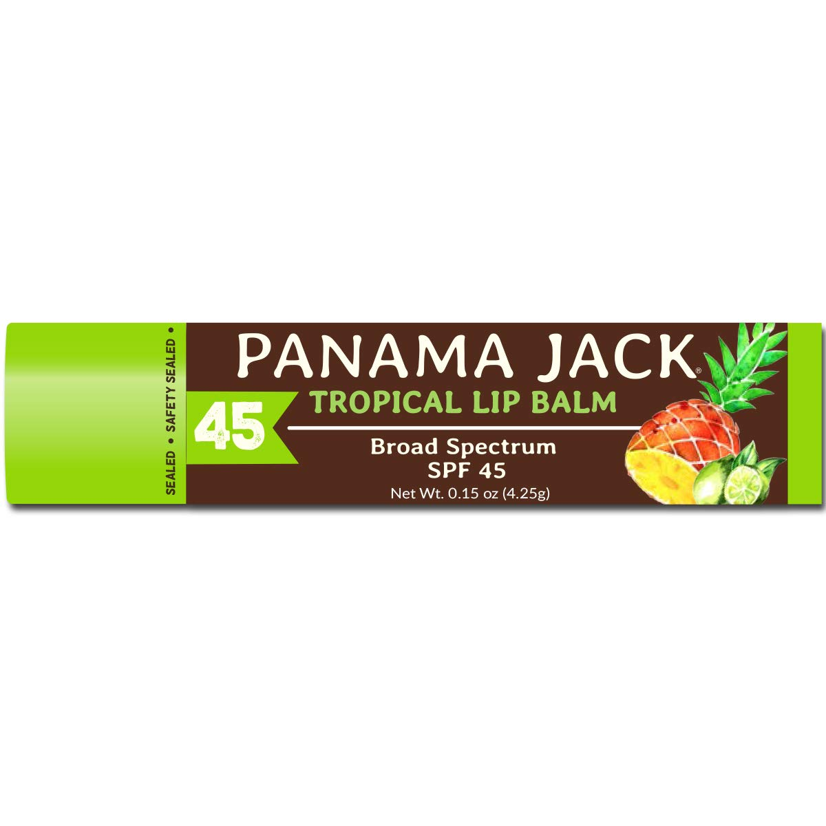 Panama Jack Tropical Lip Balm - SPF 45, Broad Spectrum UVA-UVB Sunscreen Protection, Prevents & Soothes Dry, Chapped Lips by Panama Jack