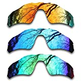ToughAsNails 3Pair Polarized Replacement Lenses for Oakley Radar EV Path Pack-IFE4