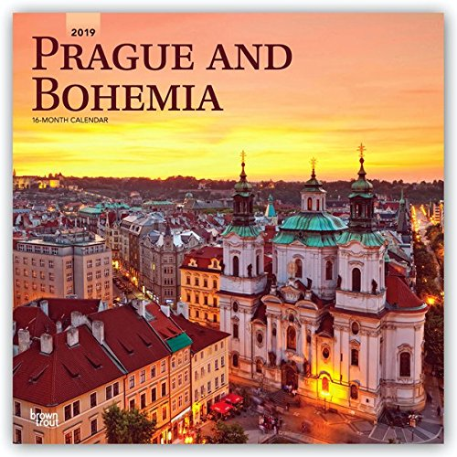 Prague and Bohemia 2019 12 x 12 Inch Monthly Square Wall Calendar, Scenic Travel Europe Czech Republic