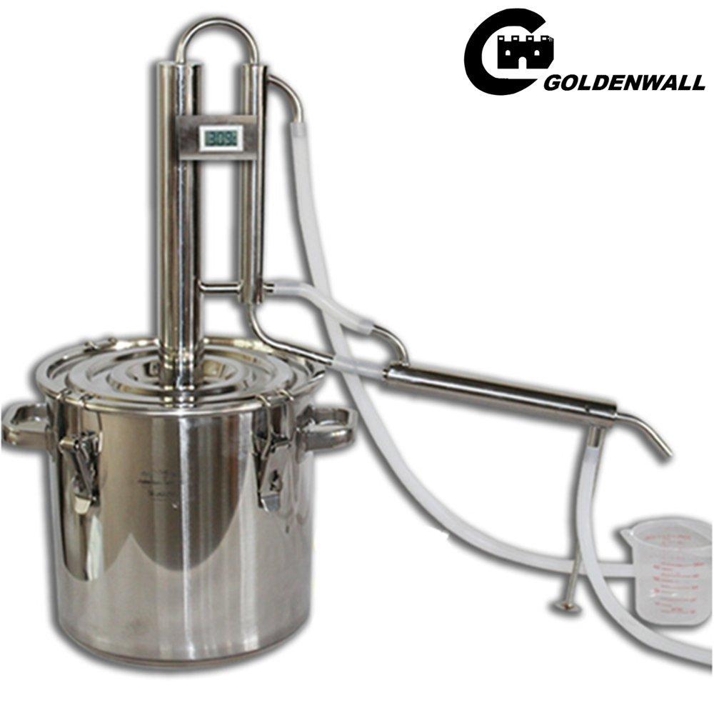 CGOLDENWALL Stainless steel Domestic wine making deviceWine makerwine making equipmentLiquor distillation equipmentDistillerWine purifying machine 50L