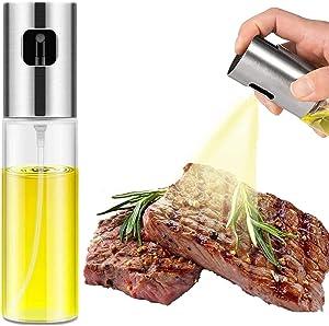 Olive Oil Sprayer for Cooking, 100ml Food-Grade Glass Oil Sprayer for Cooking Air Fryer, Kitchen Olive Oil Sprayer Mister and Oil Spray Bottle for Cooking/BBQ/Salad/Baking/Roasting/Grilling
