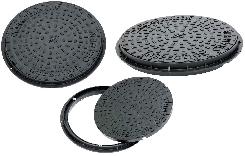 3,5 CLARK Drain CD452/Mannlochdeckel und Rahmen 450/mm Durchmesser