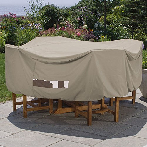 Weather Wrap Round Table & Chairs Cover (Extra Furniture Cover Large Oval Garden)