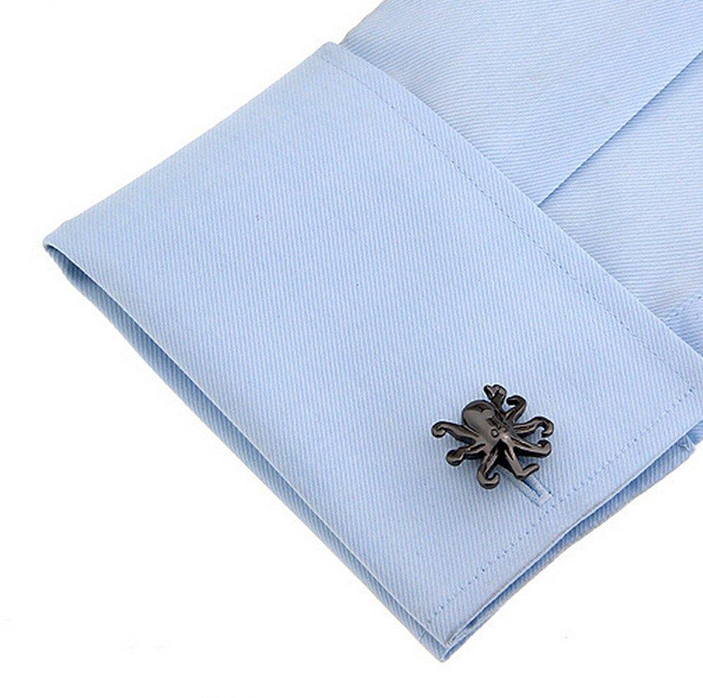 Fablcrew 1 Paires Boutons de Manchette Forme de Pieuvre en Acier Inoxydable Chemise de Manchette pour Homme Mariage Business Commercial