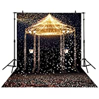 Funnytree 5x7ft Photography Backdrop Star Highlights romantic aesthetic fireworks castle background props photocall photobooth Photo studio
