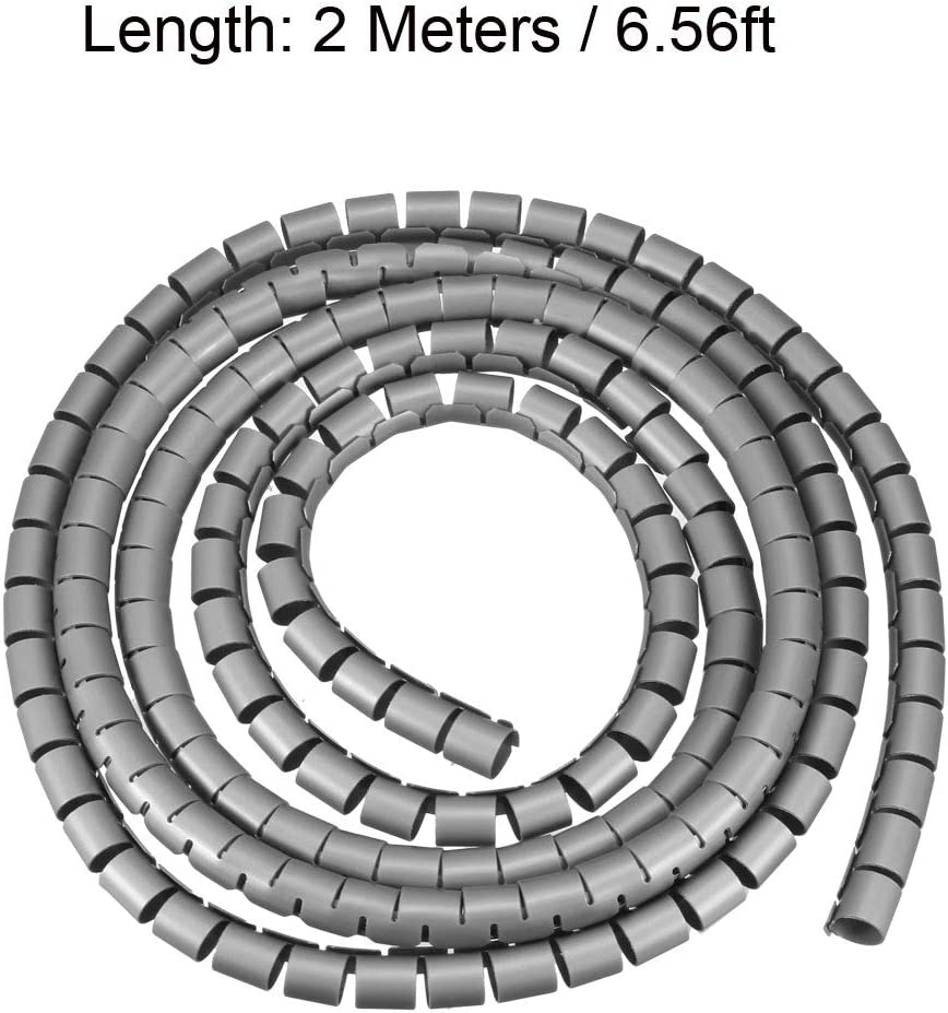 sourcing map Flexible Spiral Tube Wrap Cable Management Sleeve 7mm x 8mm Computer Wire Manage Cord 3 Meters Length White