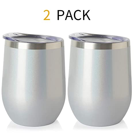 Amazon.com: ONEB Vaso de vino de acero inoxidable con tapa ...