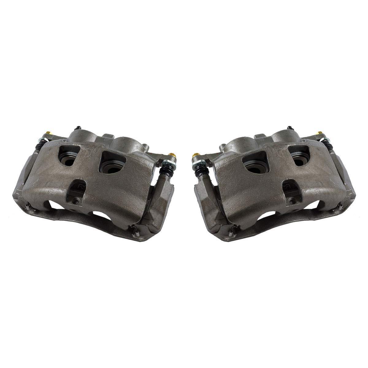 CCK01528 [ 2 ] FRONT Premium Grade OE Semi-Loaded Caliper Assembly Pair Set Callahan Brake Parts