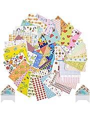Set van 100 stuks schattige kleurrijke stickers Instax Mini Film kleurrijke stickers met verschillende designs stereo filmstickers set voor Mini Instax FujiFilm/Polaroid fotocamera