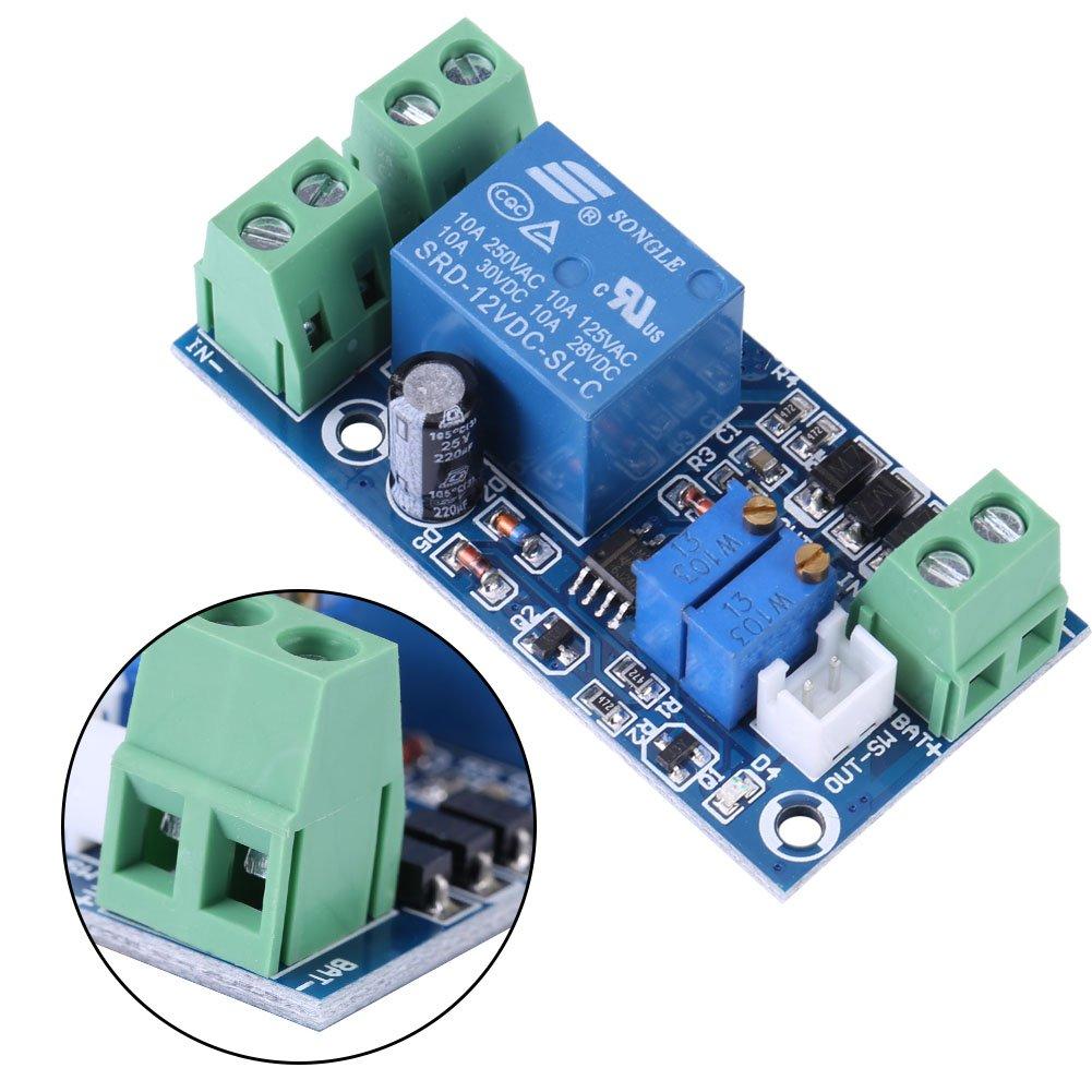 Aufladungs Schutz Brett Speicher Batterie Unterspannung automatisch ein//aus Aufladungssteuer Modul f/ür Blei S/äure Lithium Sonnenkollektor Batterie