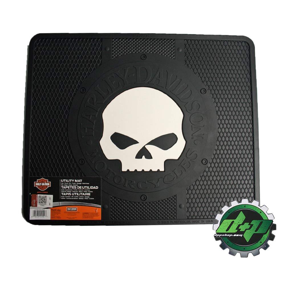 Diesel Power Plus Harley Davidson Utility Floor mat hd Shop Garage Back Rear Floor Willie G Skull