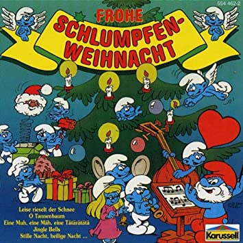 Die Schlümpfe Weihnachtslieder.Frohe Schlumpfen Weihnacht