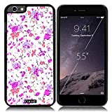 New Apple iPhone 6 s Plus 5.5-inch CocoZ? Case Beautiful flowers designs PC (Black TPU& Flowers 9)