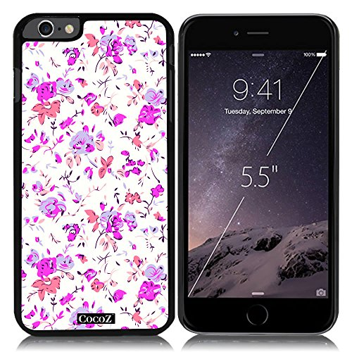 Price comparison product image New Apple iPhone 6 s Plus 5.5-inch CocoZ Case Beautiful flowers designs PC (Black TPU& Flowers 9)