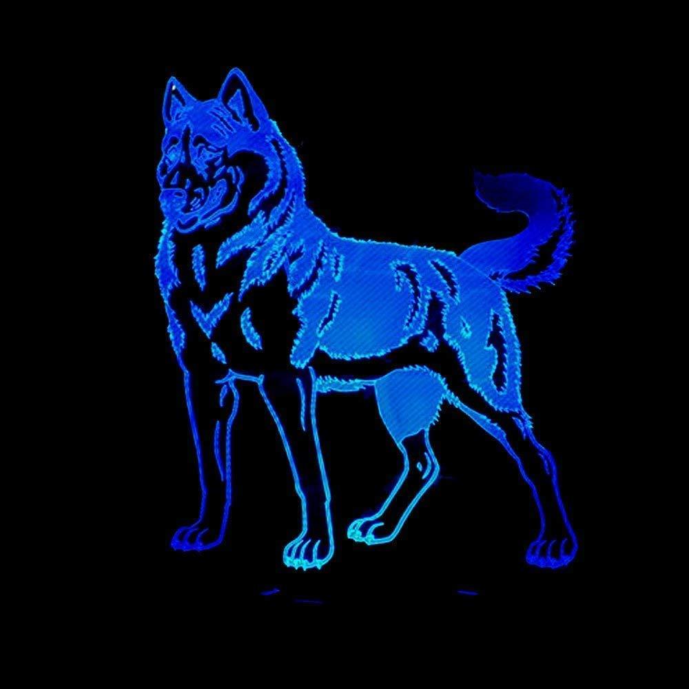 3D Barboncino Cane Night Light Lamp 7 Cambiamento di Colore LED USB Touch Table Gift Kids Toys Decor Decorazioni di Natale Regalo di San Valentino Regalo di Compleanno Aokeli
