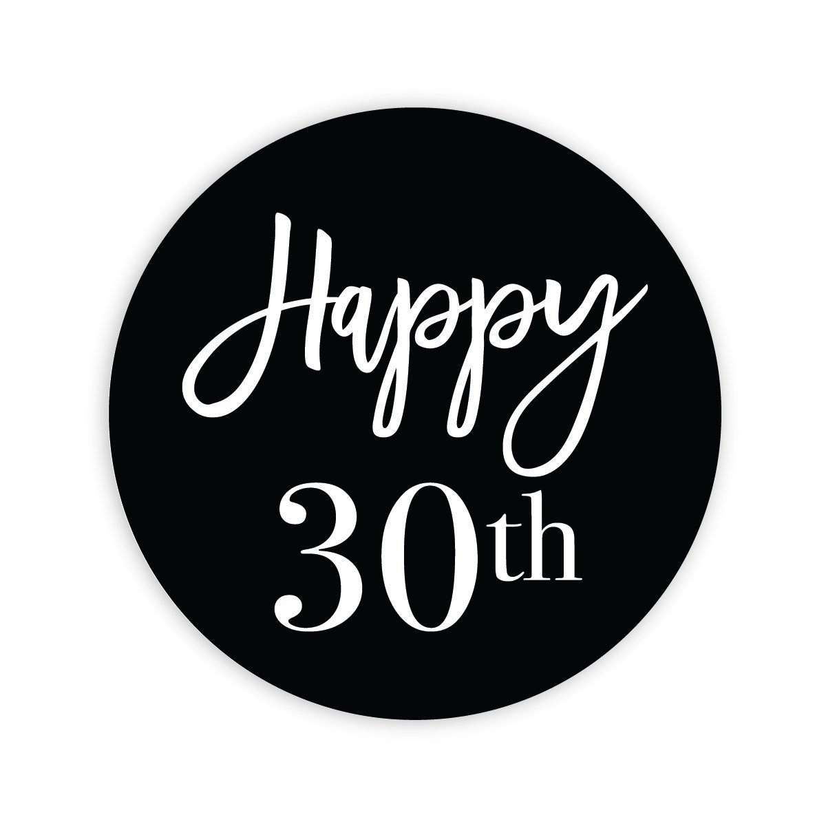 24 - 2'' 30th Birthday Milestone Birthday Party Favor Stickers (#631-30a)