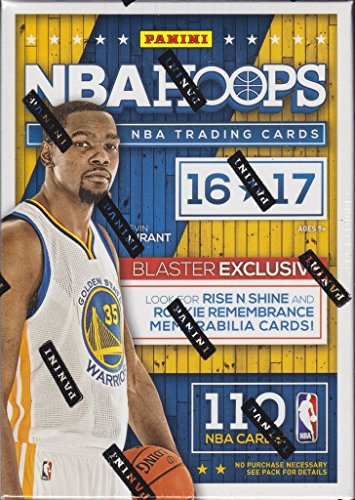 2016 2017 Hoops NBA Basketball Box with One GUARANTEED AUTOGRAPH or MEMORABILIA Card Per Unopened Blaster Box of Packs Possible Rookies and Stars from Unopened Box of Packs