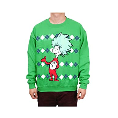 46c392979 Amazon.com  Dr. Seuss Thing 1 or Thing 2 Mens Pullover