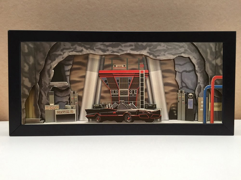 Batman Batcave interior shadowbox diorama - memorabilia picture art collector gift