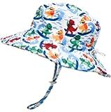"ERISO Baby Sun Hat Bucket - Outdoor Beach Summer Hats for Toddler Boys Girls UPF 50+ - - (21.2"") 4-8 Years"