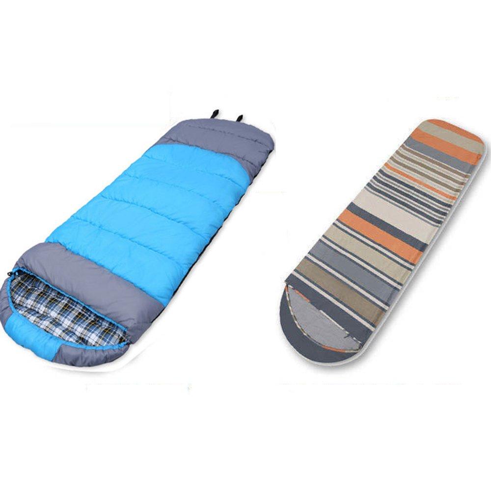 LJHA shuidai Umschlag Schlafsack mit Linern Erwachsene Outdoor Camping Wandern Baumwolle Rechteckigen Schlafsack mit Kompressionssack (2 Farben erhältlich)