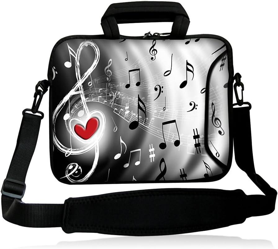 """iColor 17"""" Laptop Shoulder Bag 16"""" 16.5"""" 17.3"""" 17.4 inch Laptop Computer PC Neoprene Messenger Bag Case Cover Holder Protector Pack W/Side Pocket"""
