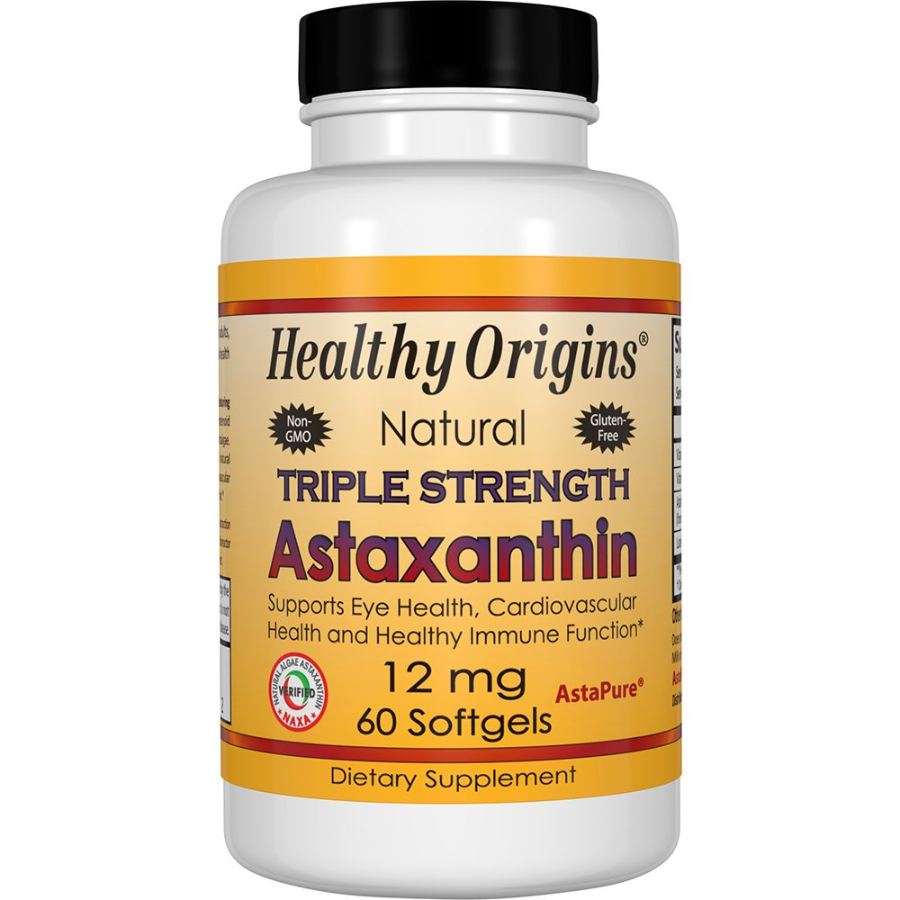 Healthy Origins Astaxanthin Triple Strength Gels, 60 Count