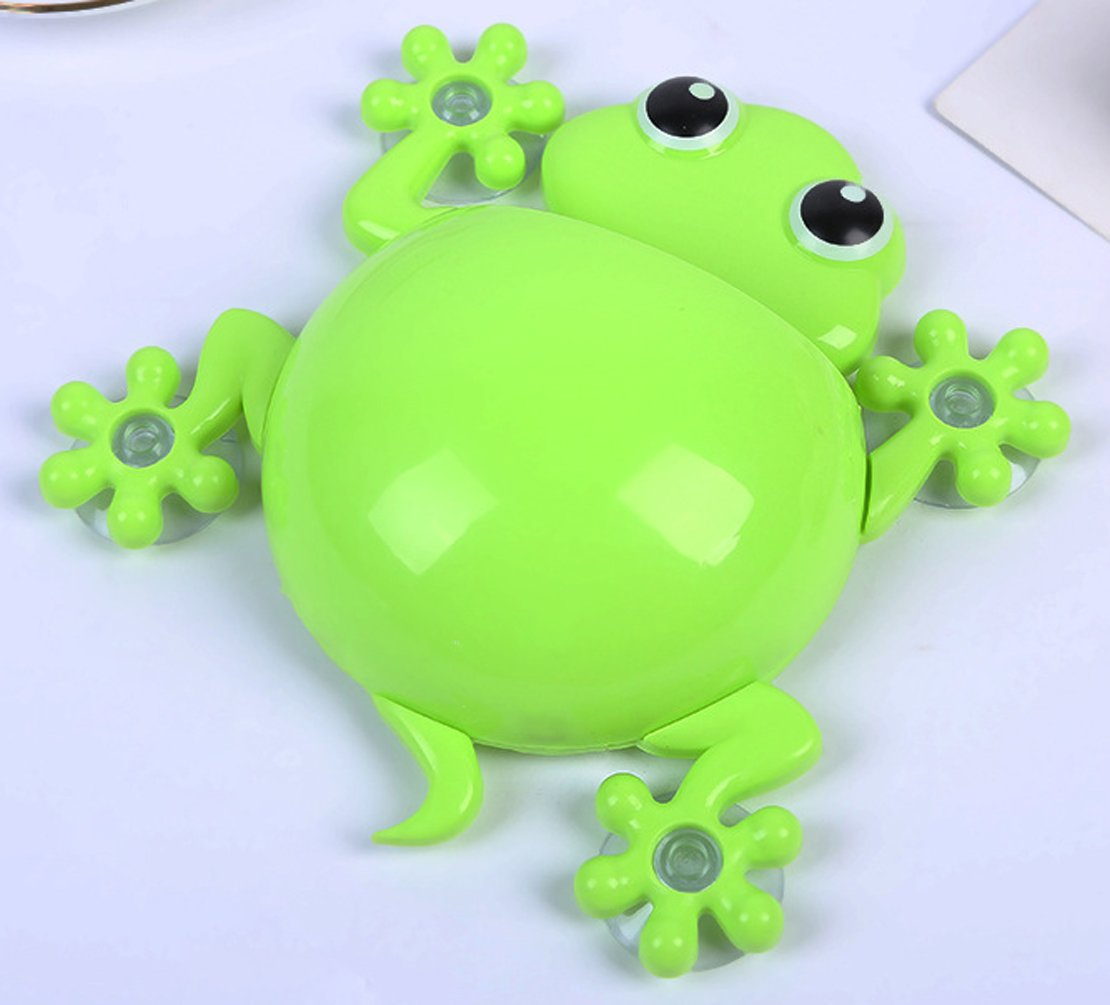 A_GOUGU Great Green Cartoon Sucker Gecko Toothbrush Holder Wall for Children's Bathroom Accessory Sets 1 Pcs