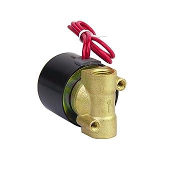 Ueetek Ac 220v 1 4 Inch Electric Solenoid Valve For Air Water Amazon Com Industrial Scientific