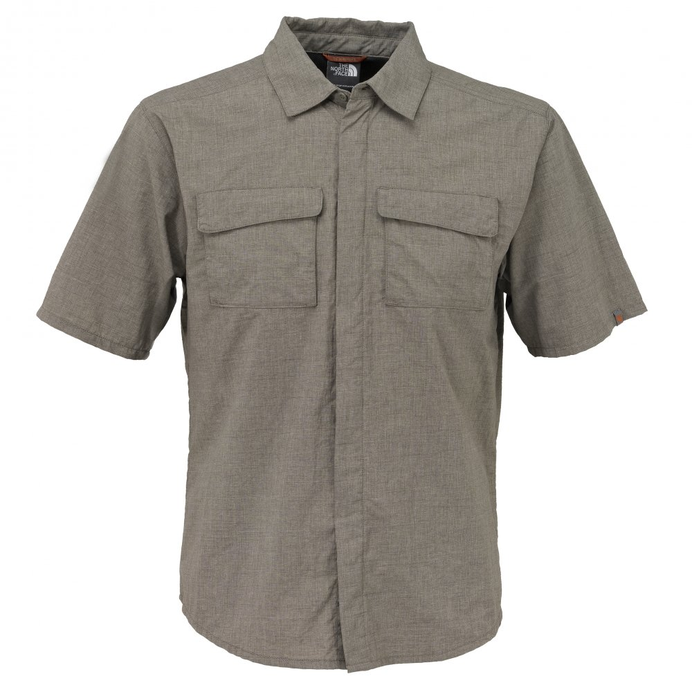 The North Face Hemd 1/2 Men S/S Kunyang Woven weimaraner Braun (Größe: S)