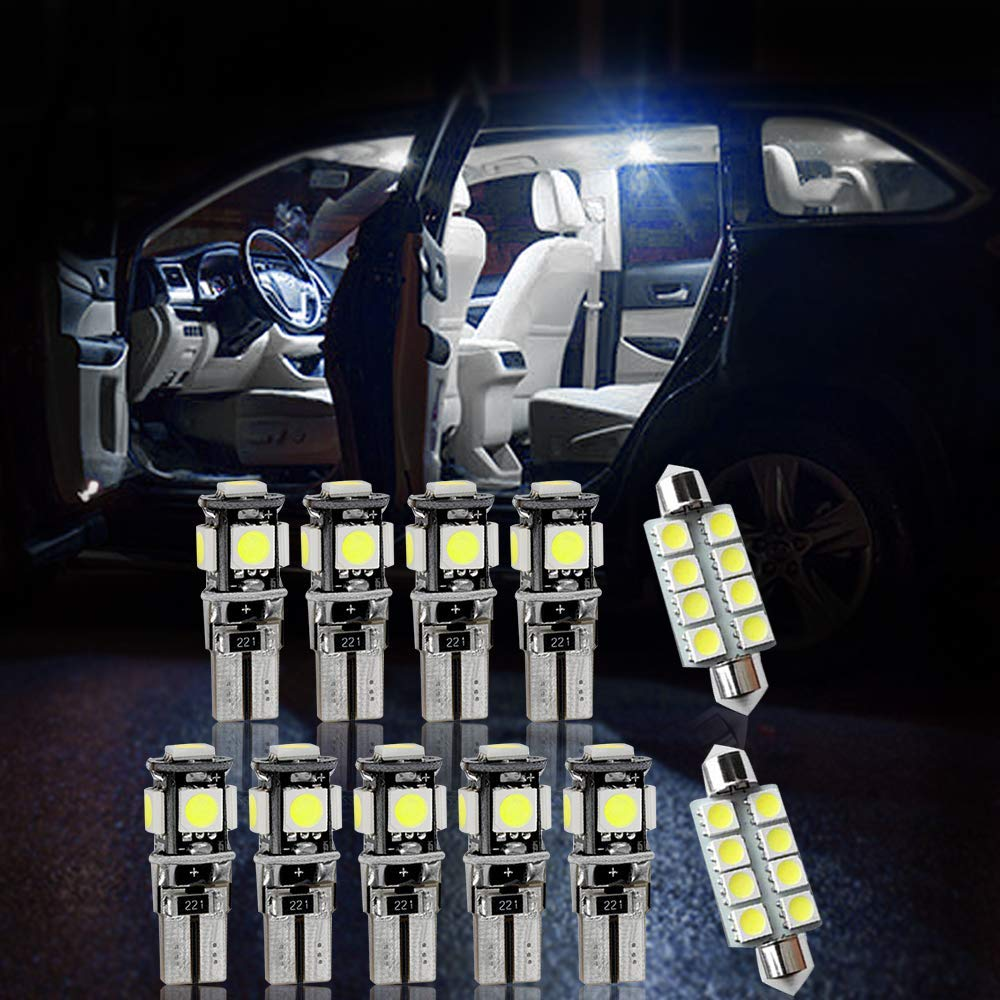 Longzhimei Luci Abitacolo Auto per A3 LED Lampadine Auto Cupola Luci Interne luce di lettura 8Pezzi bianco