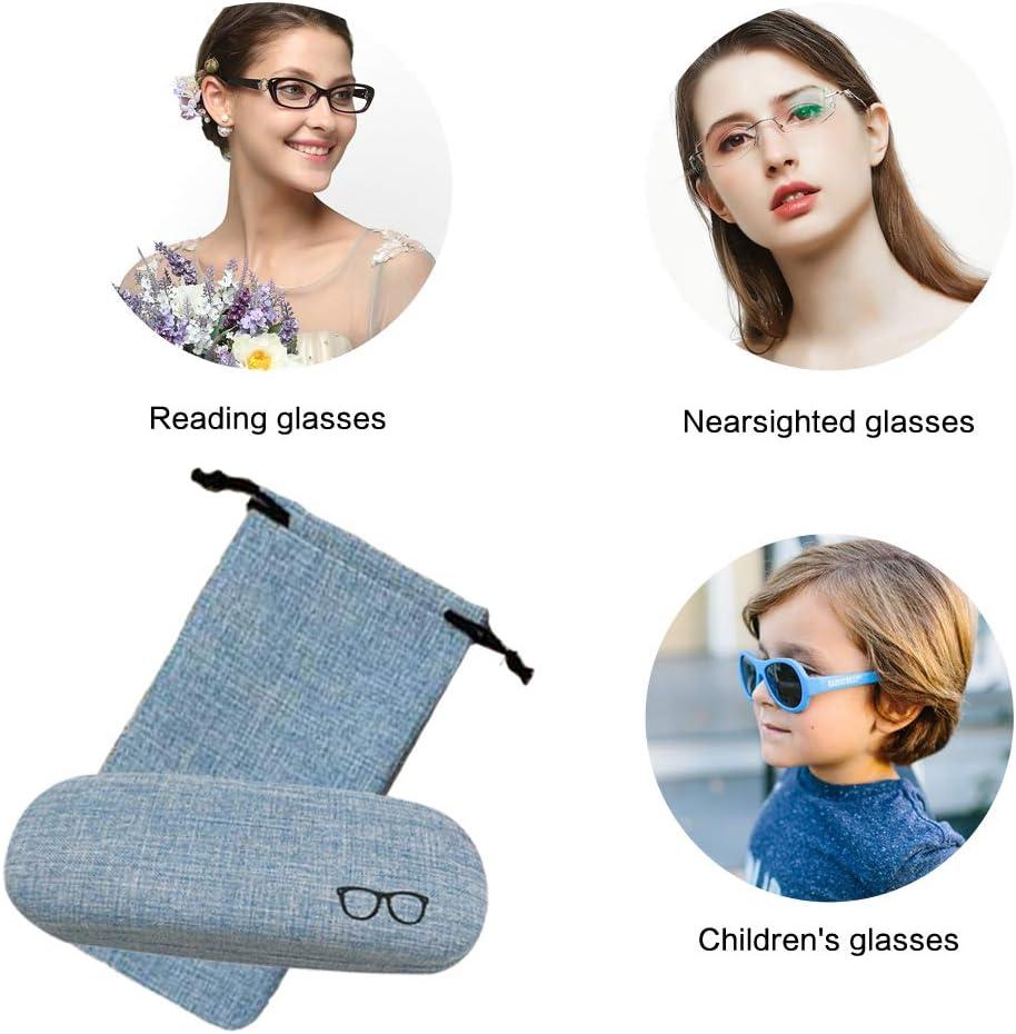 Brillenetui Leinen Retro Brillenetui f/ür Damen Damen M/ädchen Jungen Herren mit Brillenetui SwirlColor Brillenetui Kinder Brillenputztuch Kontaktlinsenetui 4-TLG