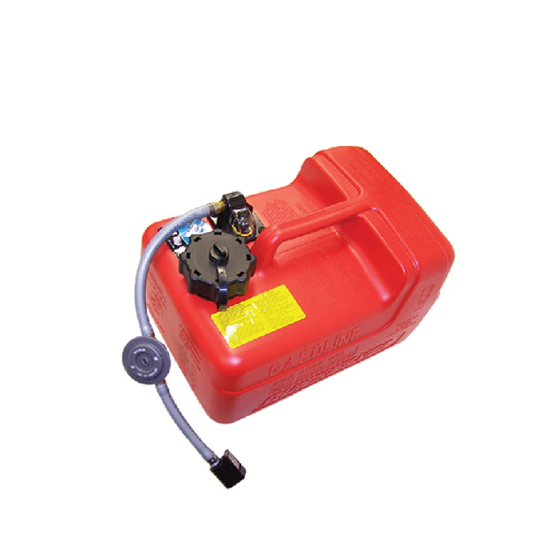 Quicksilver 8M0047598 Portable Marine Boat Fuel Tank with Fuel Demand  Valve, 3 2-Gallon Capacity