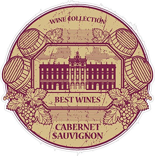 Sauvignon Collection (Oval wine collection cabernet sauvignon 4x4 inches grape equality taste free red 'merica military funny humor america united states color sticker state decal vinyl - Made and Shipped in USA)