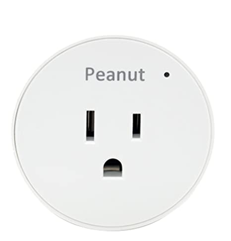 Securifi Peanut Smart Plug (1 Minute Setup), NEEDS Almond (read below for  compatible units), Remotely Monitor and Control Lights Appliances using  Free