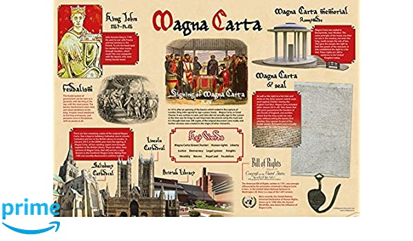 Wildgoose Education wg7345 Magna Carta Póster, 59 cm x 84 cm ...