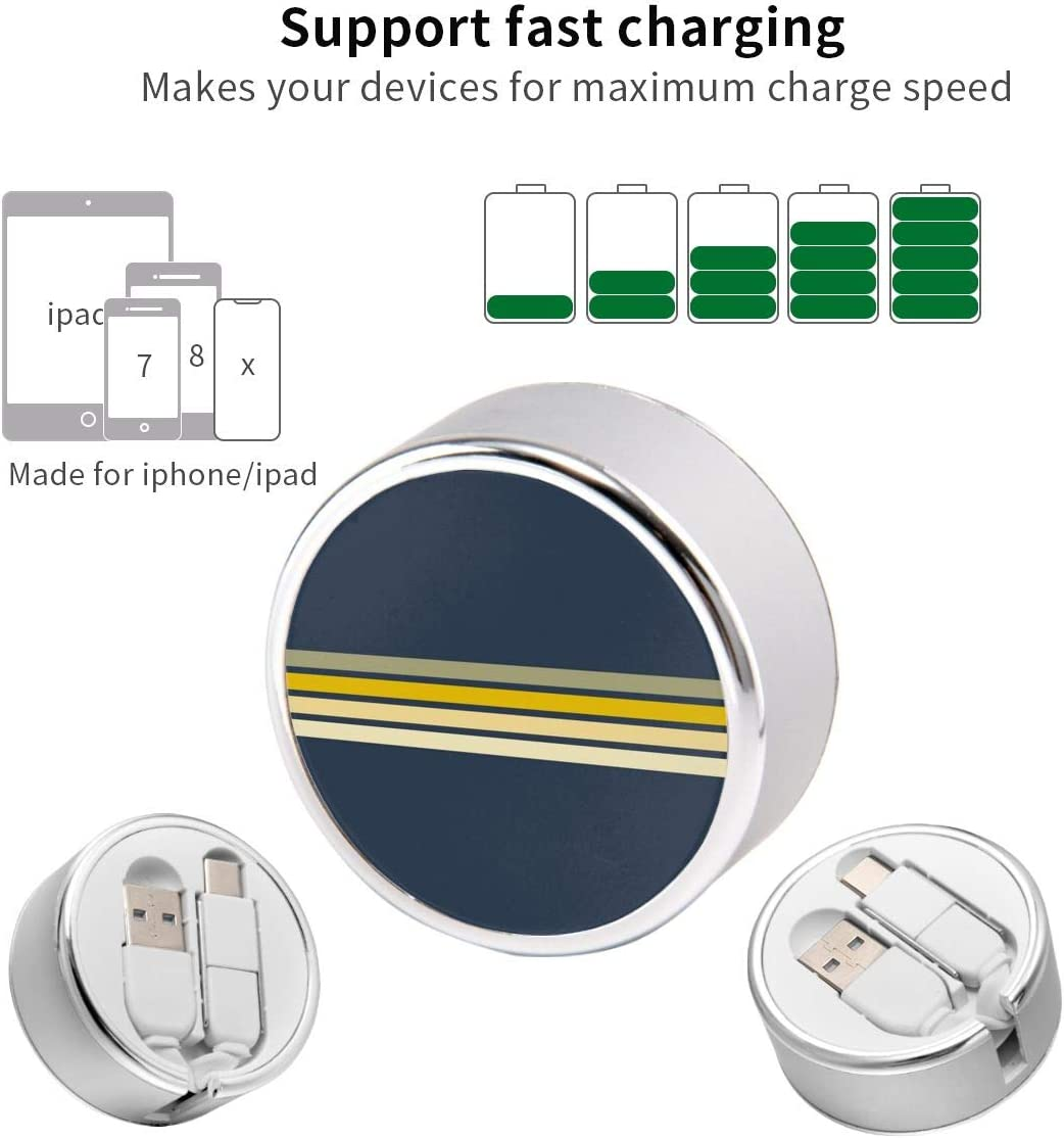 Multi Quick USB Charging Cable,Racing Retro Stripes 2 in1 Fast Charger Cord Connector High Speed Durable Charging Cord Compatible with iPhone//Tablets//Samsung Galaxy//iPad and More
