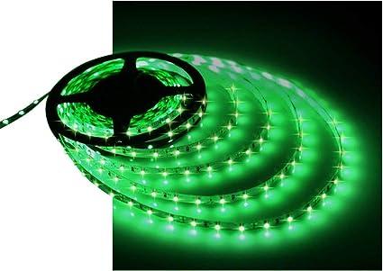Female Jack Waterproof LED Strip Light 3528 SMD 12V Flexible Bright 5M Green