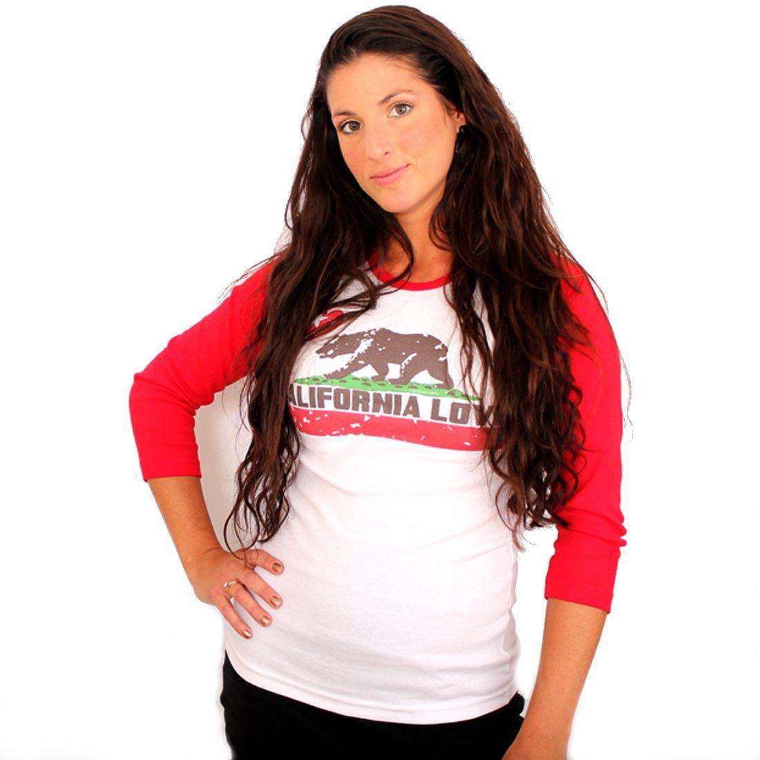 California Love Baseball Raglan Jersey B00FN2NSI6 XL|レッド レッド XL