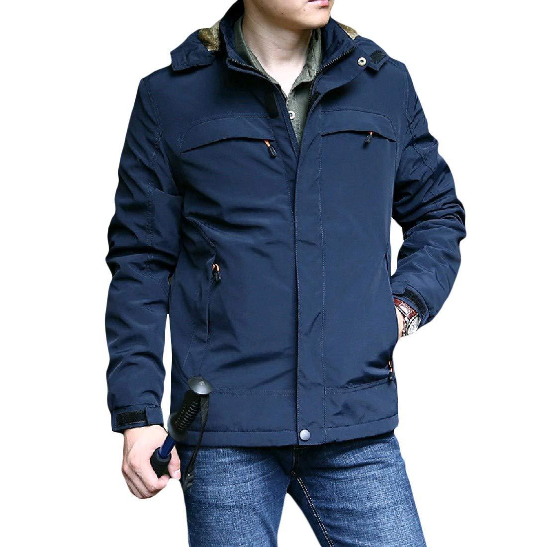 Zimaes-Men Waterproof Windproof Warm Climber Outdoor Parka Jacket