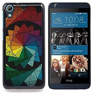 - Symmetrical Colors - - Cubierta del caso de impacto con el patr??n Art Designs FOR HTC Desire 626 & 626s Queen Pattern