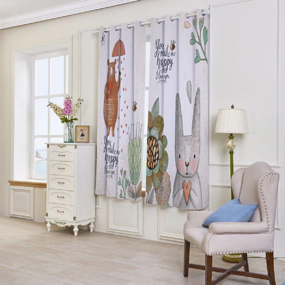 UniEco Rideau Rideaux Lot de 2/rideaux occultant /à oeillets rideau occultant pour chambre /à coucher 132x160cm