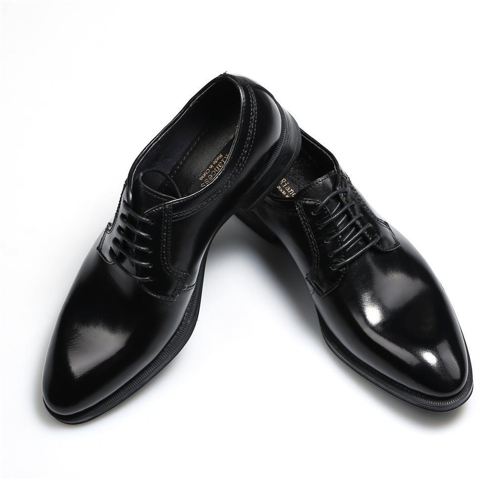 XIE Männer Formal Geschäft Hochzeit Schwarz Leder Oxford Schuhe Spitz Zehe Handarbeit Oxford Leder Schnüren Zum Männer Party Größe 38-44 - d83fd7