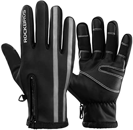 Motorcycle Cycling MTB Bike Bicycle Full Finger Gloves Winter Touchscreen Gloves