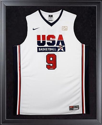 quality design 8fa83 15cbc MICHAEL JORDAN Signed Team USA Retro Framed Jersey w/HOF ...