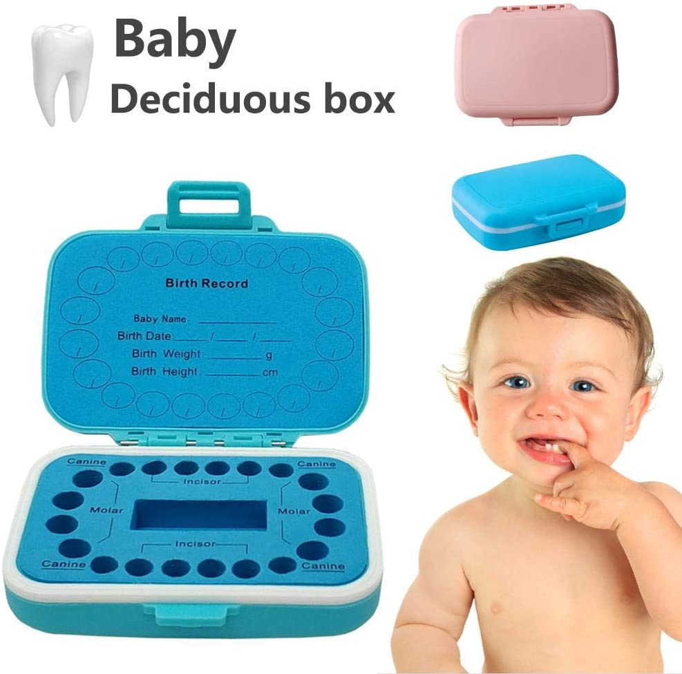 Fancylande Baby Teeth Keepsake Box Tooth Holder Plastic First Lost Deciduous Tooth Collection Organizer Storage Birthday Gift for Boys /& Girls Memory